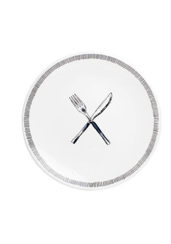 Blond x Noir - Fork Knife Plate