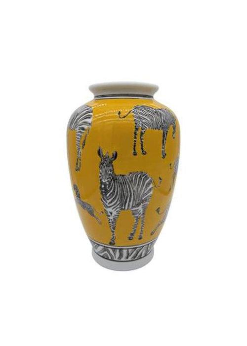 LocoLama LocoLama - Vase Yellow With Zebras