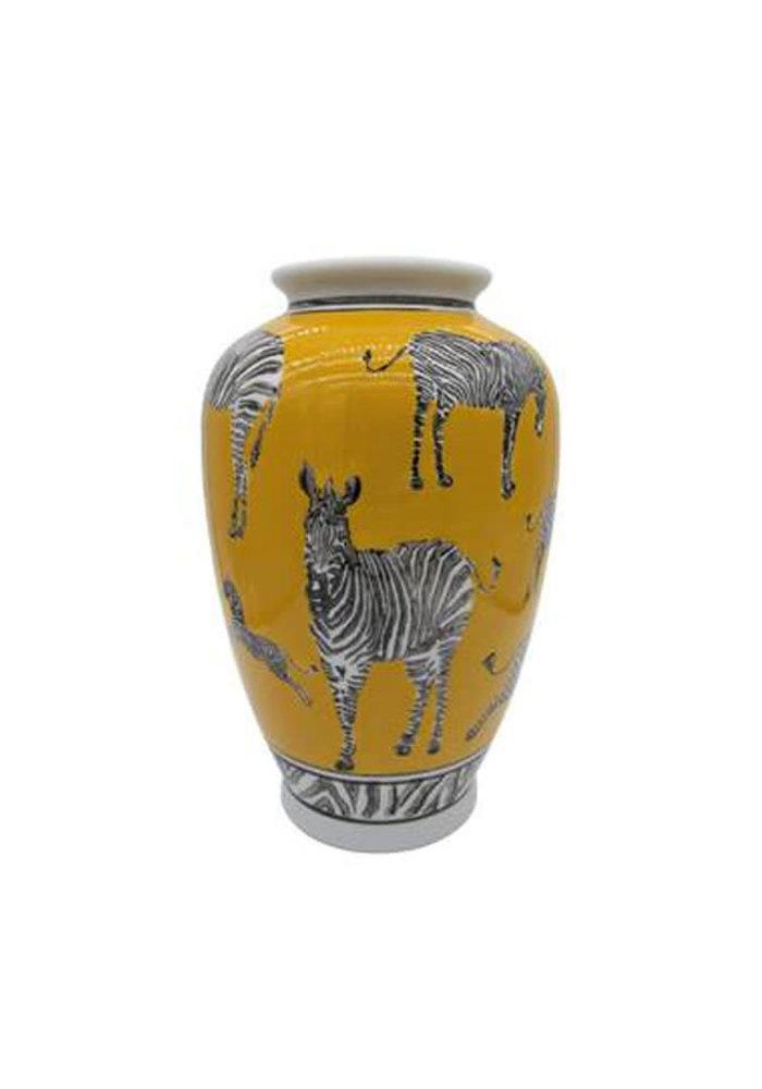 LocoLama - Vase Yellow With Zebras