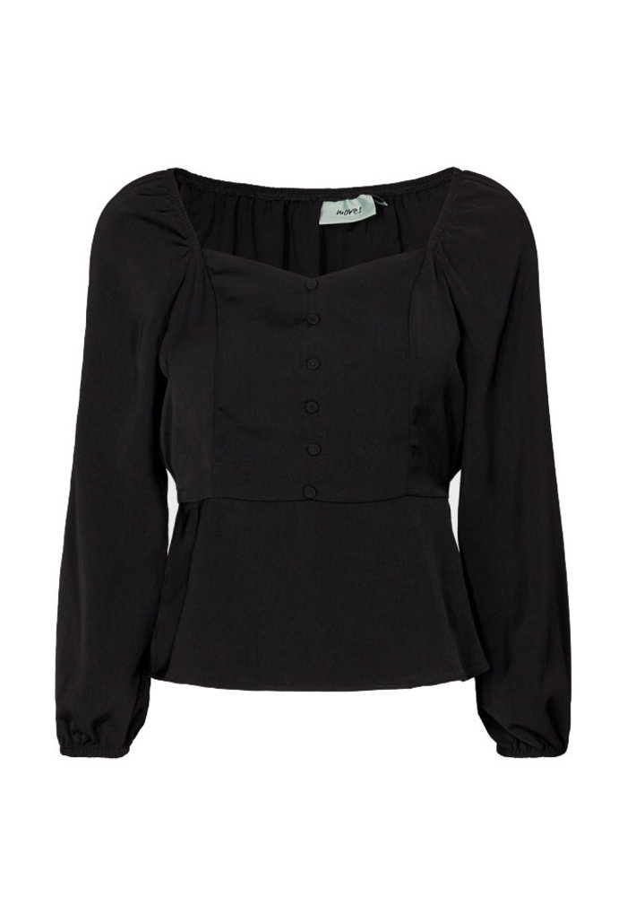 Moves - Tallas blouse Zwart
