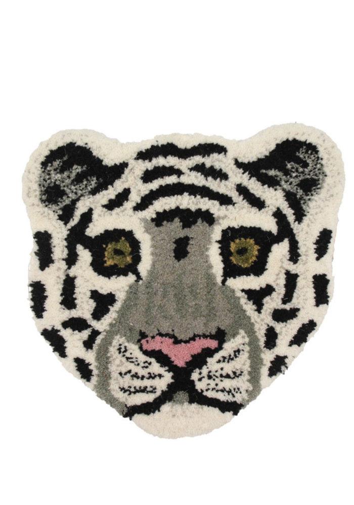 Doing Goods - Snowy Tiger Head Rug