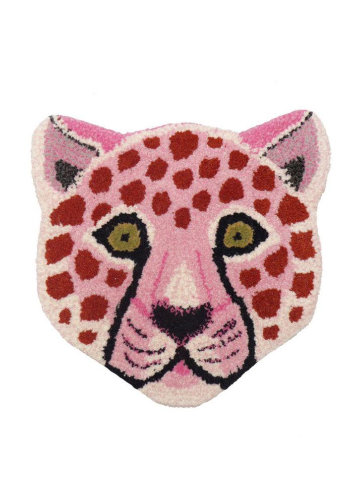 Doing Goods - Pinky Leopard Head Rug