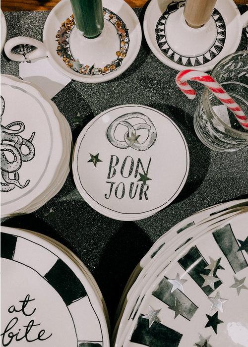 Blond x Noir - Bonjour Plate