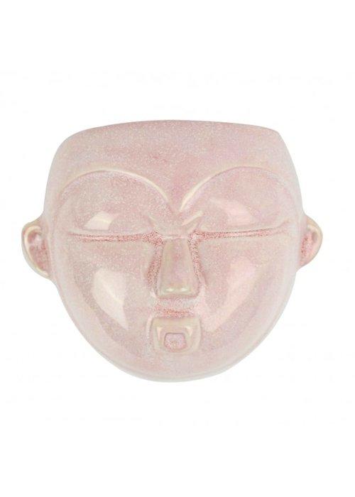 Wall Pot Mask Round Pink