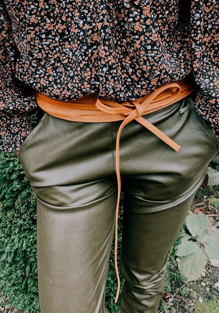 Vegan Leather Pants - Green