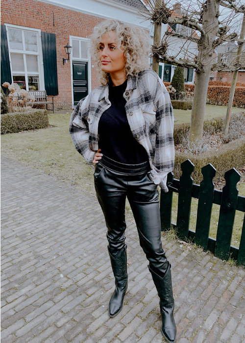 Vegan Leather Pants  - Black