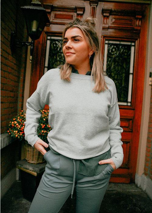 Aqua Gray - Pullover