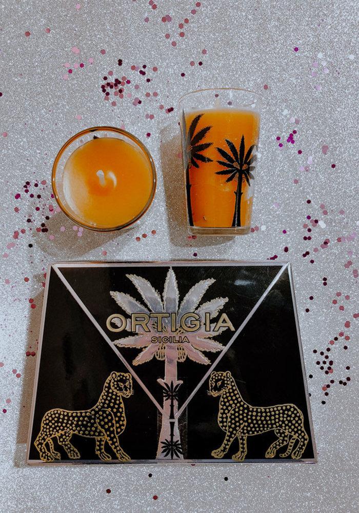 Ortigia Ambra Nera - set twee kaarsen
