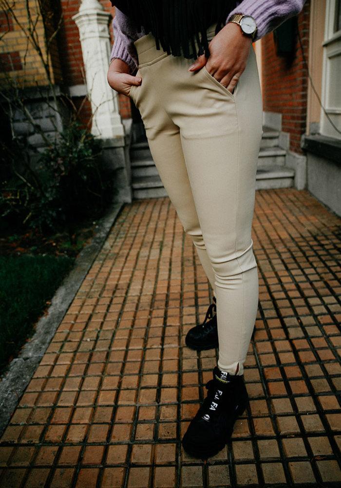 Vegan leather pants -  Off White