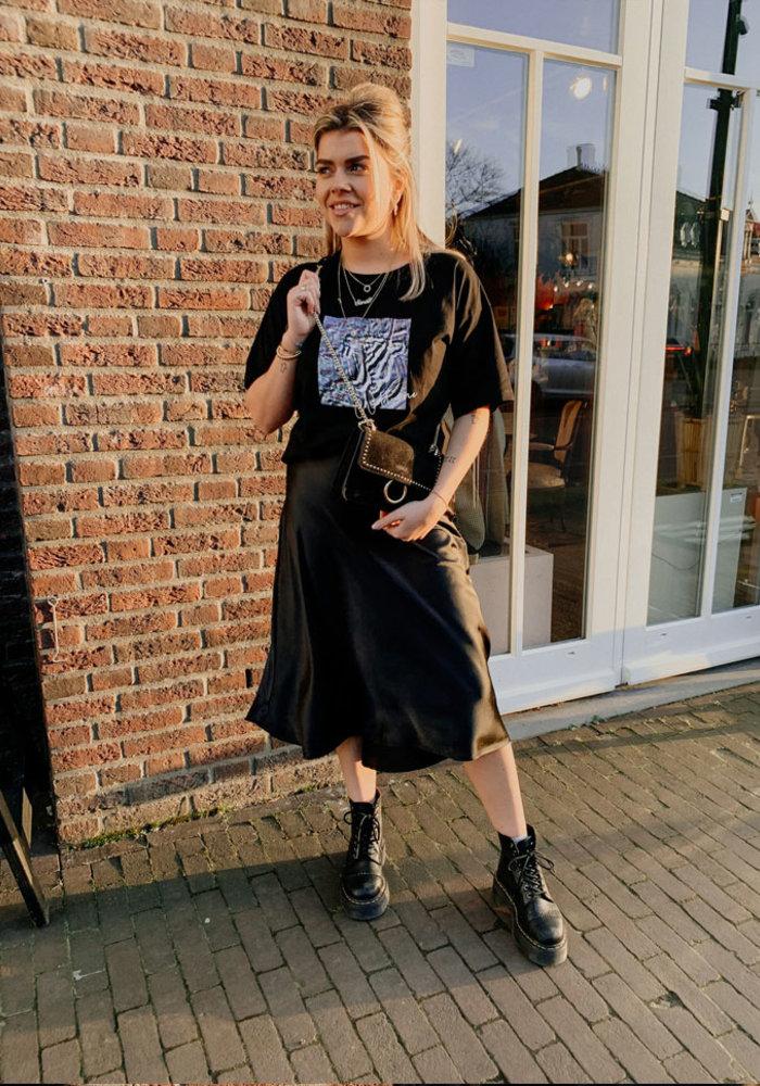 Black Silky - Skirt