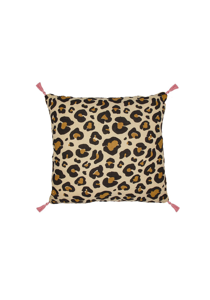 Doing Goods - Leopard Pillow Large Brown
