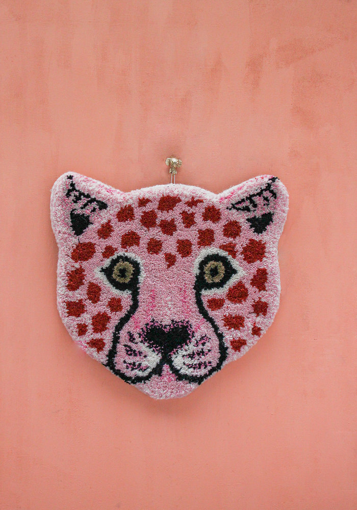 Doing Goods - Pinky Leopard Head Rug