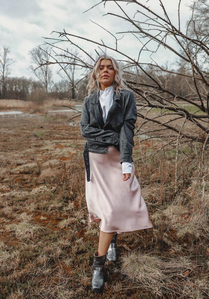 Soft Pink Silky - Skirt
