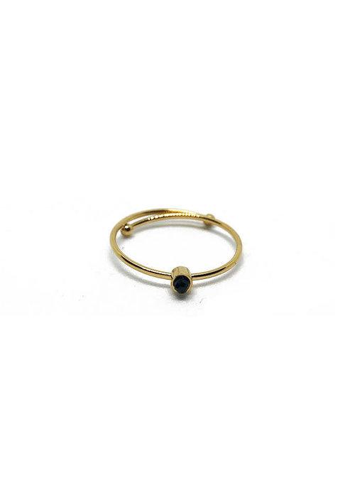 Zag Bijoux ZAG - Ring Black Stone gold