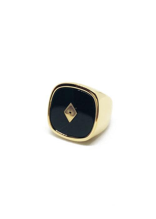Zag Bijoux ZAG - Ring Big onyx