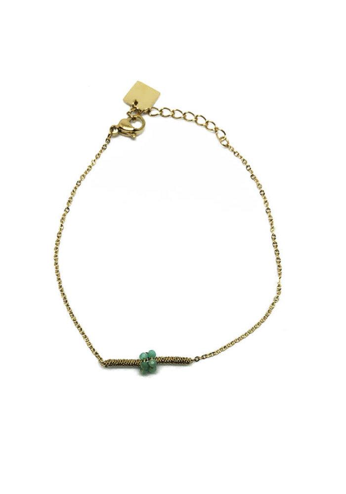 ZAG - Bracelet amazonite stones