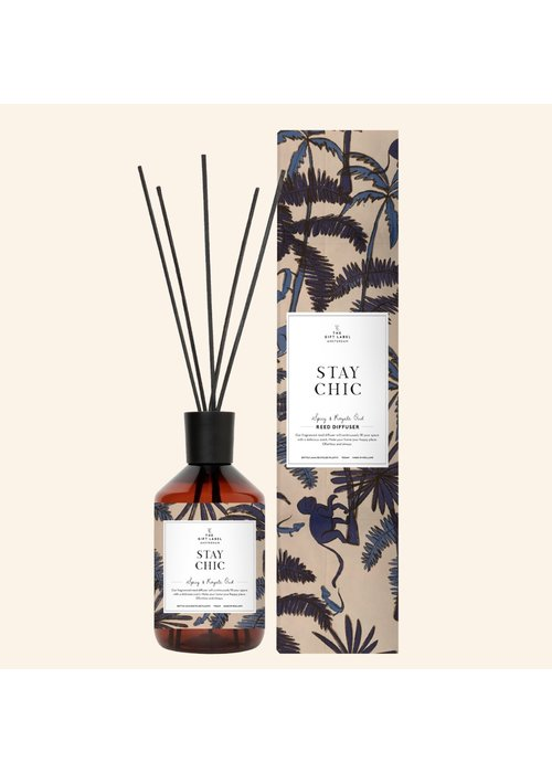 Gift Label Reed diffuser - Stay Chic