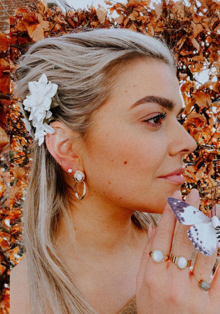 ZAG - Earring white agate