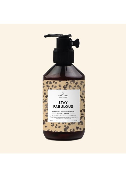 The Gift Label Handlotion - Stay Fabulous