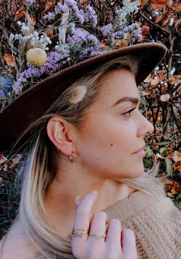 ZAG - Earrings tiny dots gold