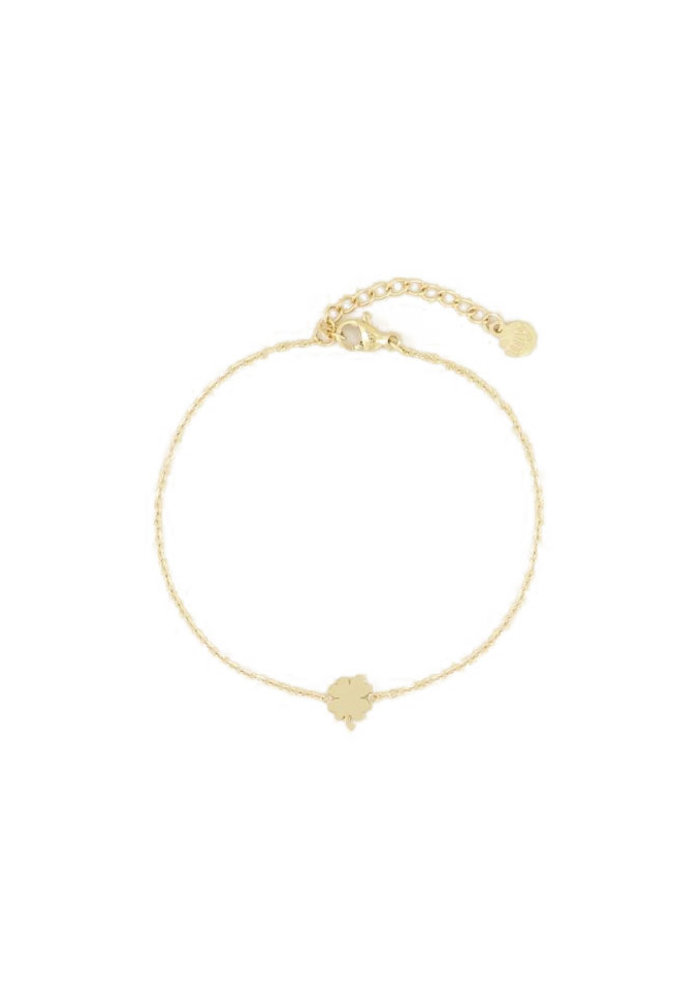 Armband - Klavertje goud