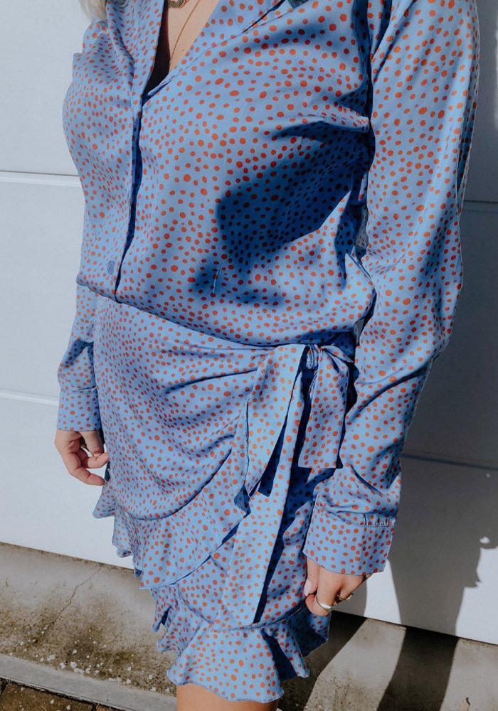 Blake Seven - Milly Dot Skirt Blue
