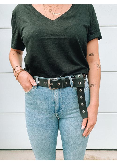 Belt - Black Silver Big