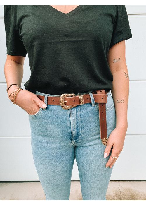Elvy's - Plain Belt Brown