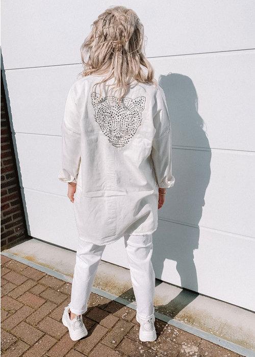Alix Alix - ladies woven washed blouse Soft White
