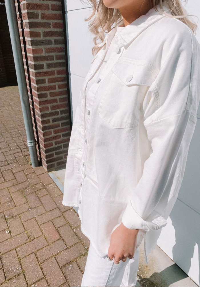 Alix - ladies woven washed blouse Soft White