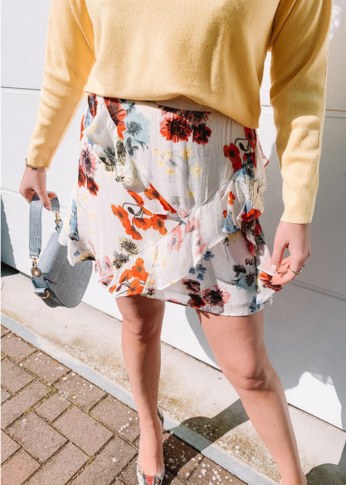 Alix Alix -  short flower chiffon skirt