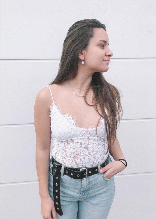 Aura Lace Top - White