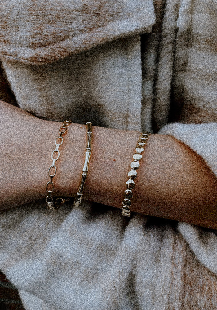 Bangle rondjes Goud