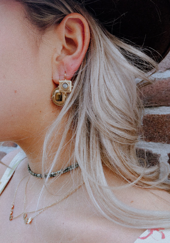 ZAG - Earring grey labradorite