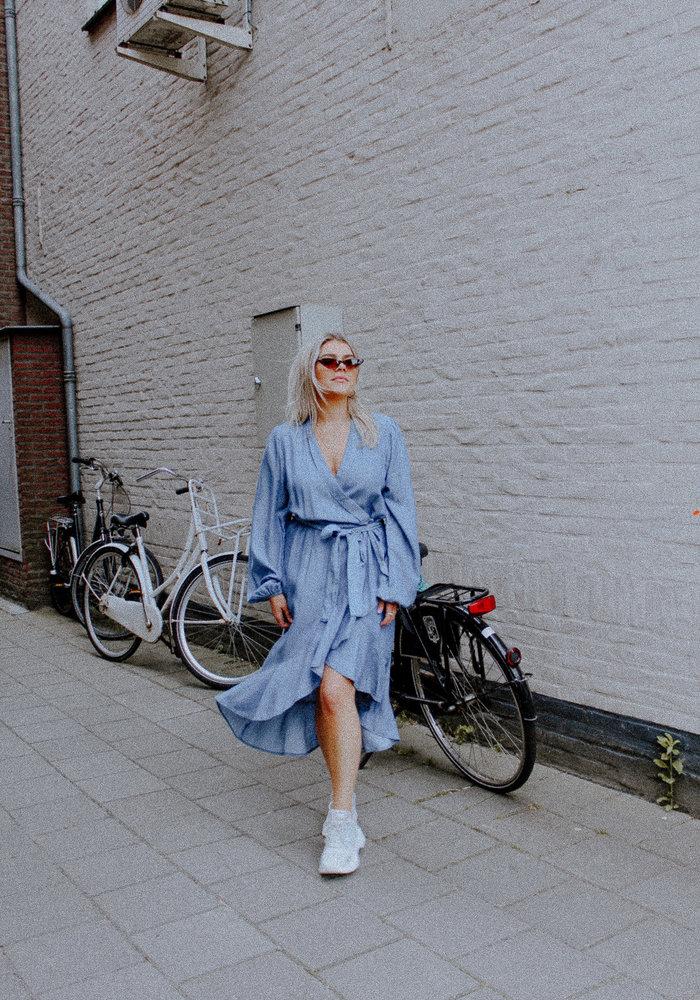 Homage - Tencel Asymmetrical Wrap Dress