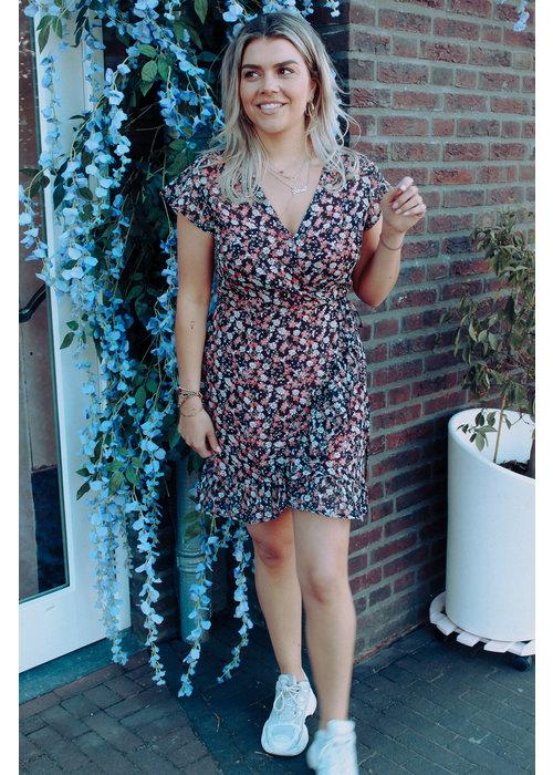 Freebird Freebird - Rosy Mini Dress Short Sleeve Black
