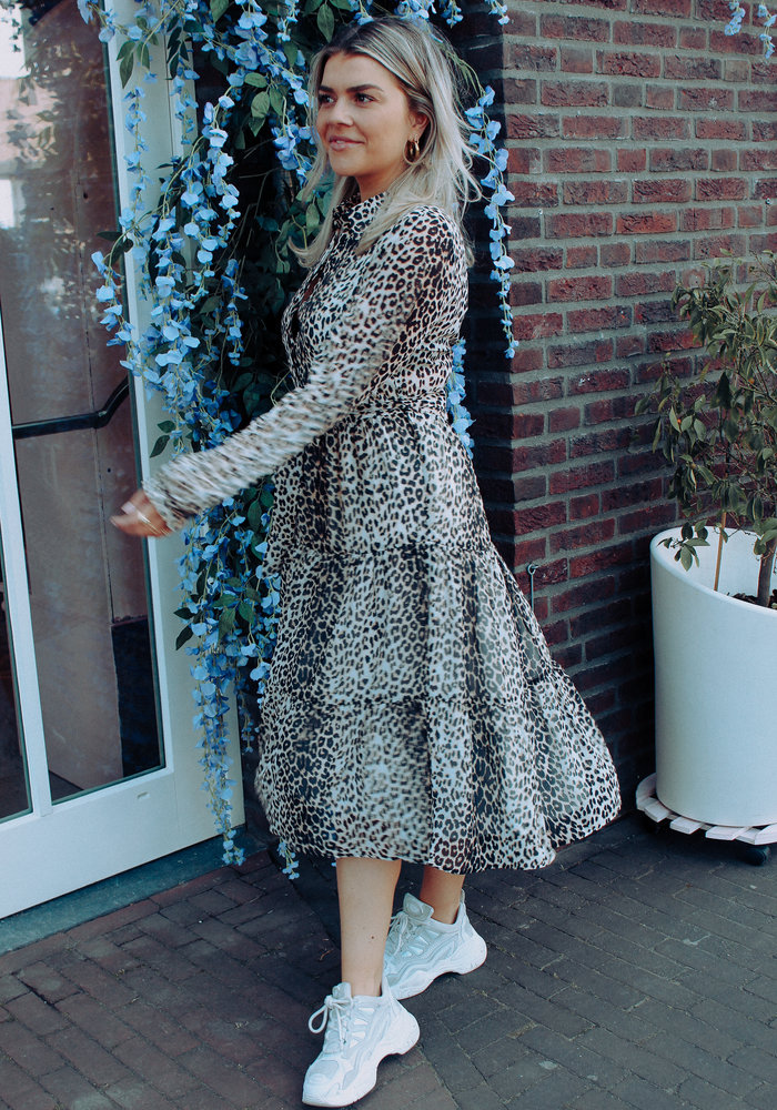 Ruffled Leopard -  Dress