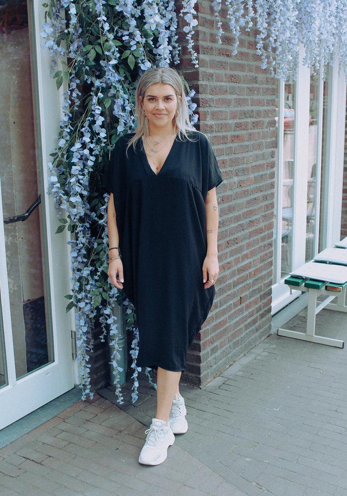 Flouncy Dress - Black