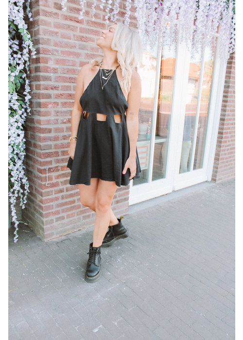 Eefje Cut Out Dress -  Black