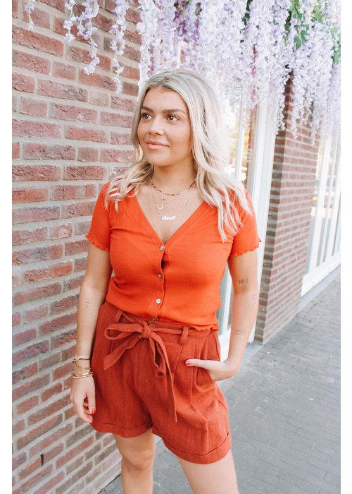 Lisa Crop Top - Orange