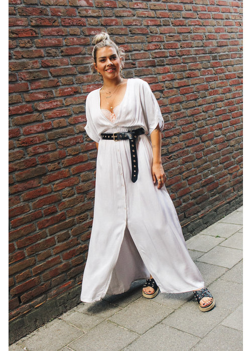 Leila Dress - Light Grey