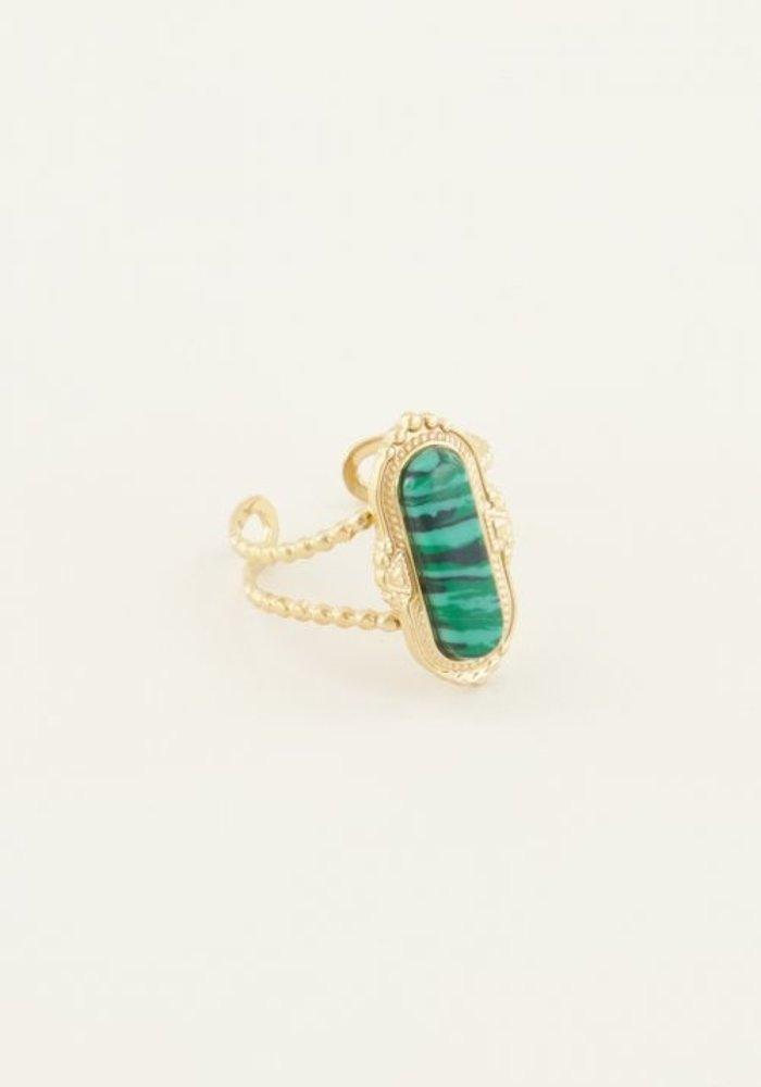 My Jewellery - Ring met groene steen