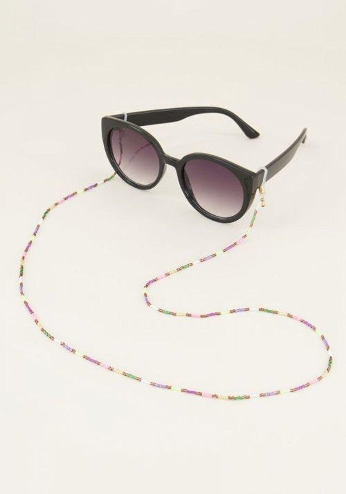 My Jewellery - Zonnebrilkoord kraaltjes Bruin