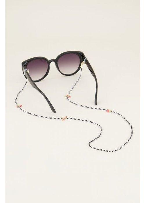My Jewellery - Zonnebrilkoord zwart wit