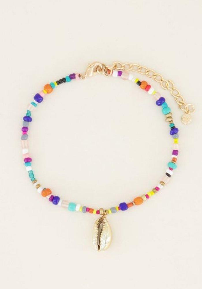 My Jewellery - enkelbandje kralen schelp goud