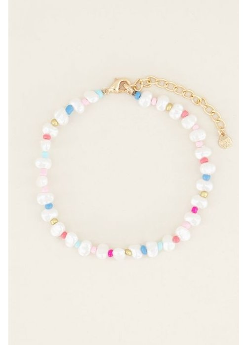 My Jewellery - enkelbandje kralen & parel
