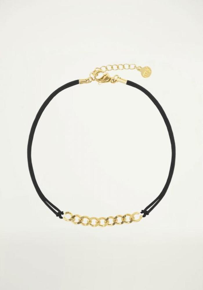 My Jewellery - Zwart Koord Armbandje Schakels