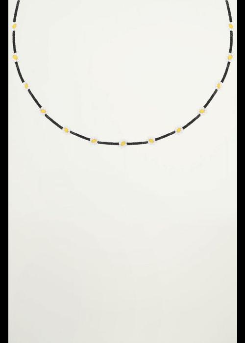 My Jewellery - Choker madeliefjes zwart
