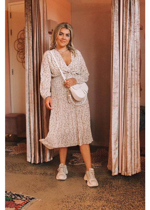 Kiko Ratatouille - Dotted Beige Dress