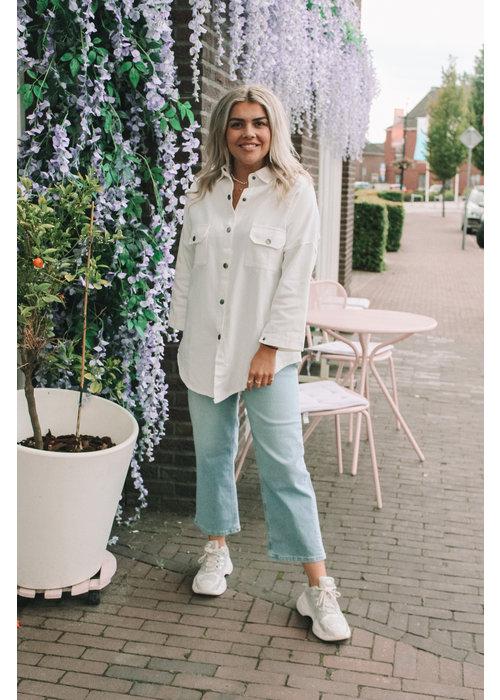 TilTil - Doris Denim Shirt white
